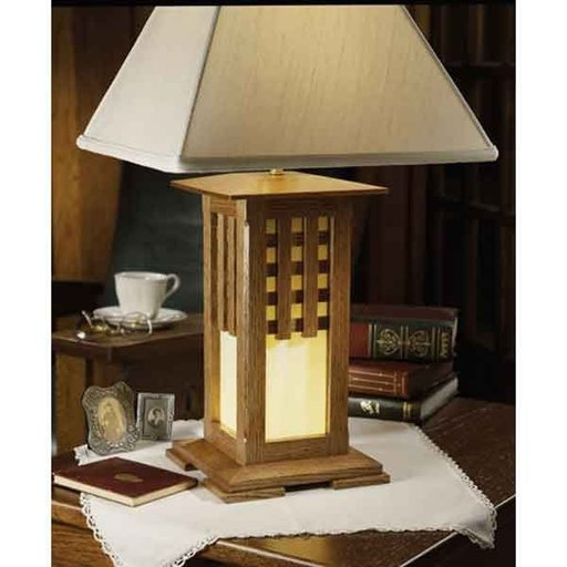 View a Larger Image of Woodworking Project Paper Plan to Build Arts and Crafts Lamp