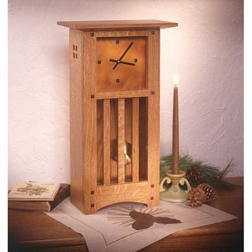 View a Larger Image of Woodworking Project Paper Plan to Build Arts and Crafts Mantle Clock