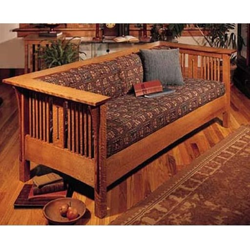 Woodworking project paper plan to build arts and crafts for Arts and crafts bed plans
