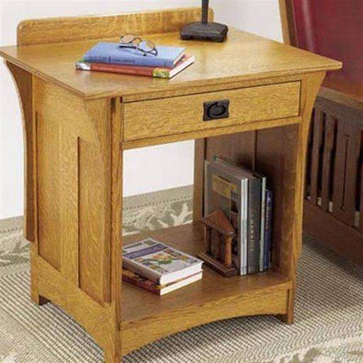 View a Larger Image of Woodworking Project Paper Plan to Build Arts and Crafts Nightstand