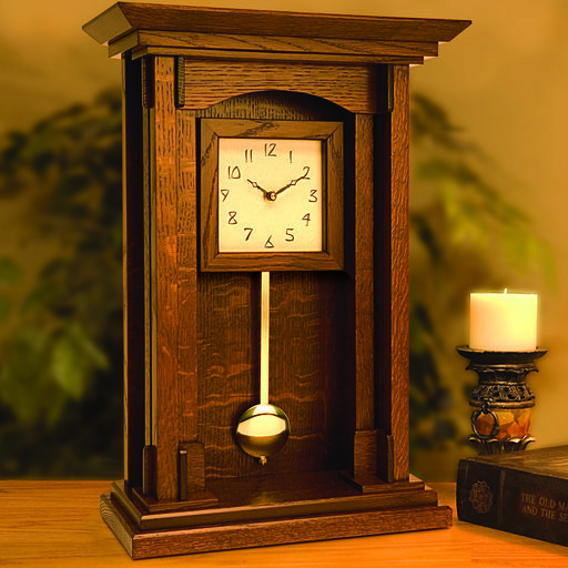 View a Larger Image of Woodworking Project Paper Plan to Build Arts and Crafts Pendulum Clock