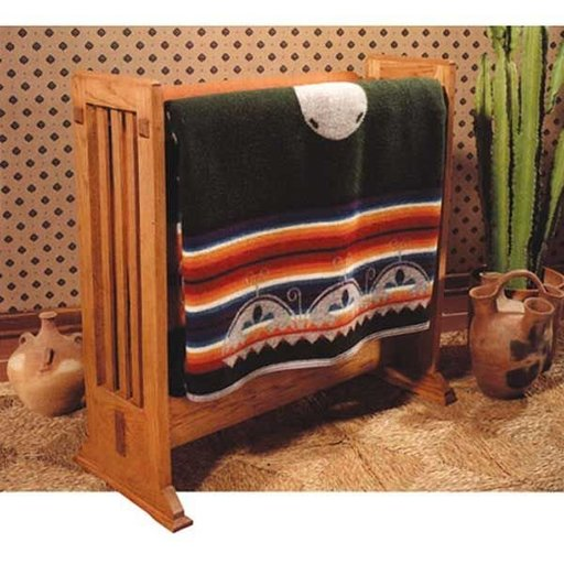 View a Larger Image of Woodworking Project Paper Plan to Build Arts and Crafts Quilt Rack
