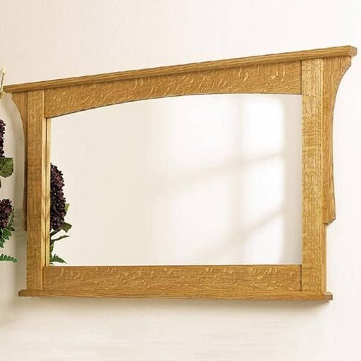 View a Larger Image of Woodworking Project Paper Plan to Build Arts and Crafts Wall Mirror