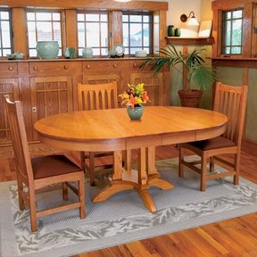 Woodworking Project Paper Plan To Build Arts U0026 Craft Dining Table