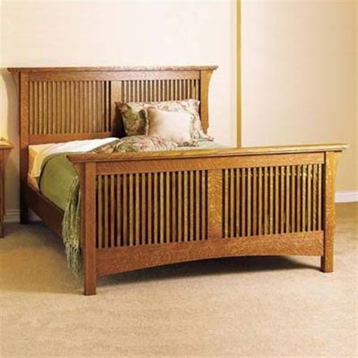 View a Larger Image of Woodworking Project Paper Plan to Build Arts & Crafts Bed