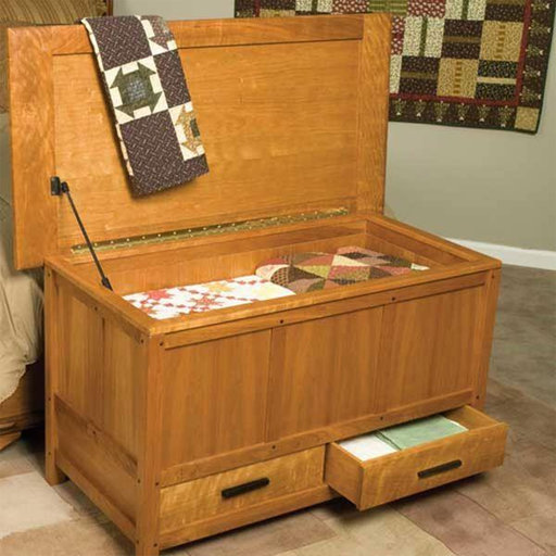 View a Larger Image of Woodworking Project Paper Plan to Build Arts & Crafts Blanket Chest