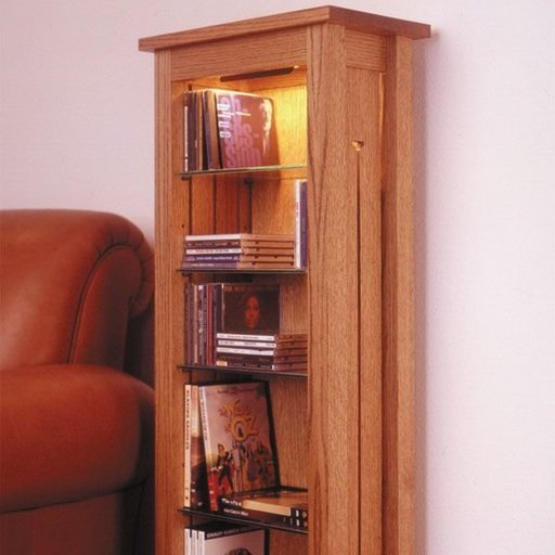 View a Larger Image of Woodworking Project Paper Plan to Build Arts & Crafts CD & DVD Storage Rack