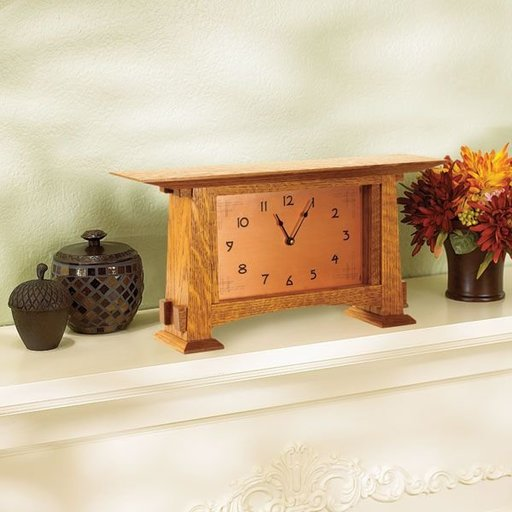View a Larger Image of Woodworking Project Paper Plan to Build Arts & Crafts Mantel Clock