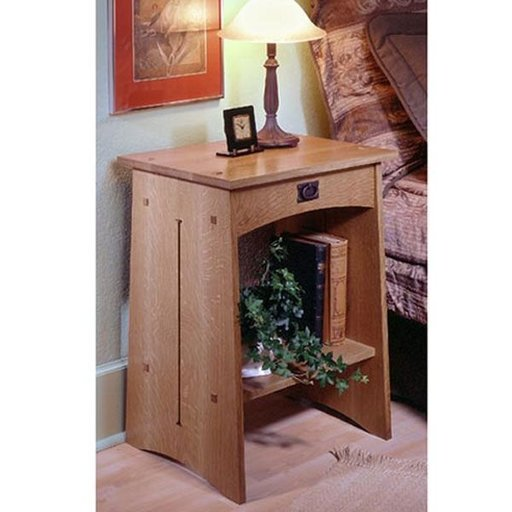 View a Larger Image of Woodworking Project Paper Plan to Build Arts & Crafts Nightstand