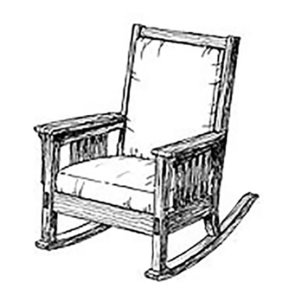 Woodworking Project Paper Plan to Build Authentic Mission Rocking Chair