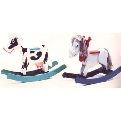 View a Larger Image of Woodworking Project Paper Plan to Build Baby Bessie Mini Mare Rocker