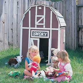Woodworking Project Paper Plan to Build Barn Playhouse, Plan No. 733