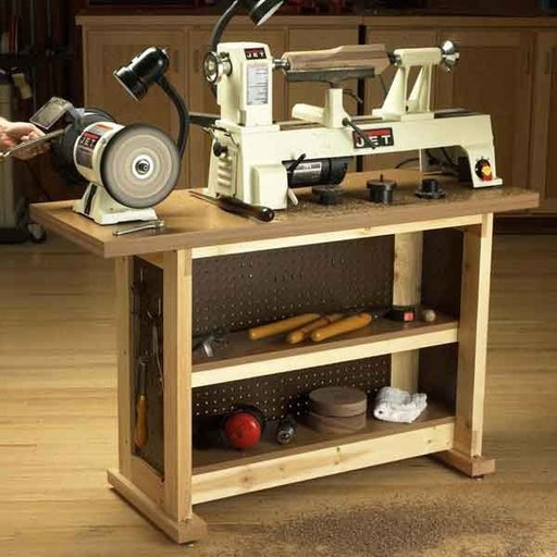 View a Larger Image of Woodworking Project Paper Plan to Build Basic-Built, Simple n' Sturdy Tool Stand