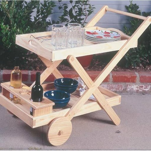 View a Larger Image of Woodworking Project Paper Plan to Build BBQ Cart, Plan No. 928