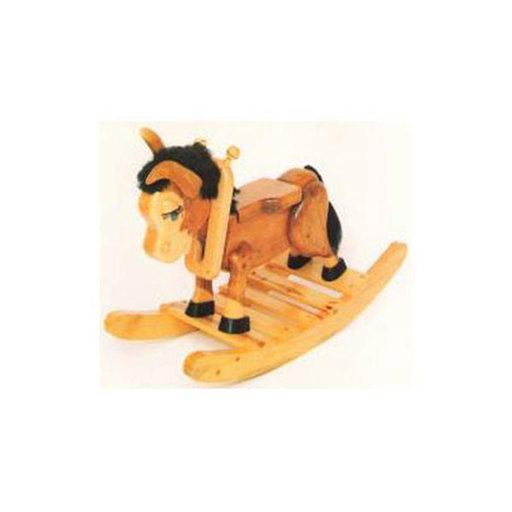 View a Larger Image of Woodworking Project Paper Plan to Build Beezer the Burro Rocker