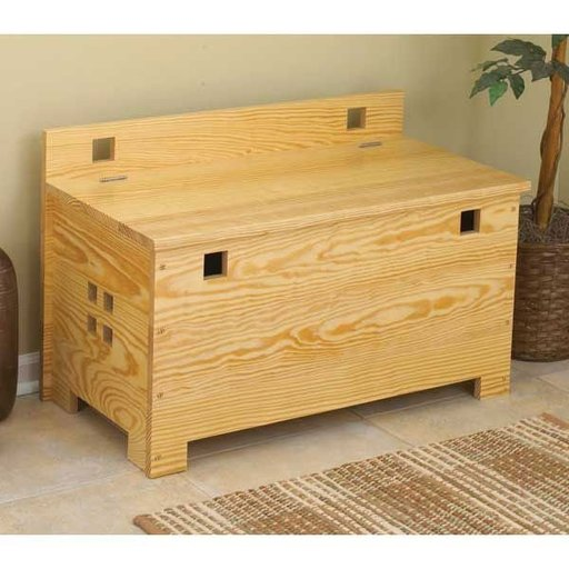 View a Larger Image of Woodworking Project Paper Plan to Build Bench with Storage