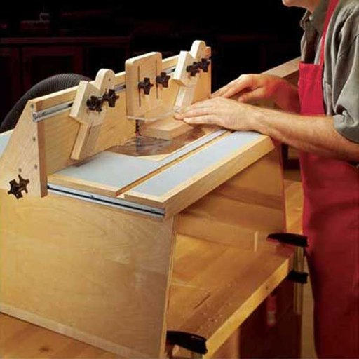 View a Larger Image of Woodworking Project Paper Plan to Build Benchtop Router Table