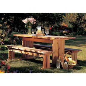 Woodworking Project Paper Plan to Build Best-Yet Picnic Set
