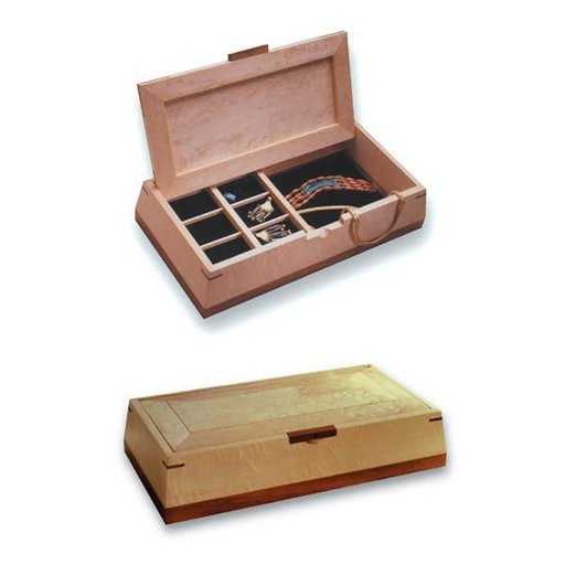 View a Larger Image of Woodworking Project Paper Plan to Build Beveled Beauty Jewelry Box