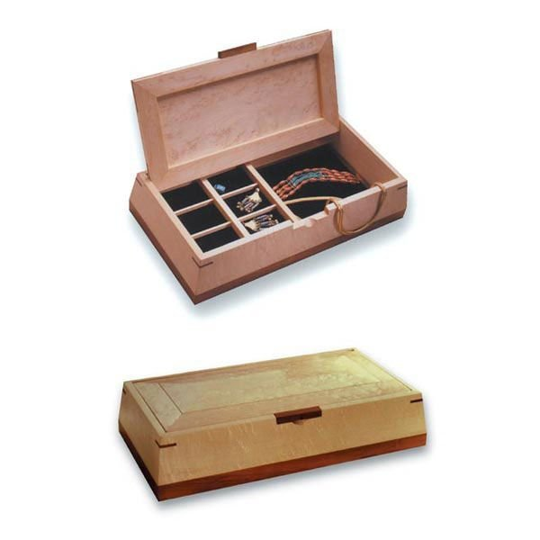 Woodworking Project Paper Plan to Build Beveled Beauty Jewelry Box