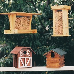 Woodworking Project Paper Plan to Build Bird Shelter & Feeder, Plan No. 684