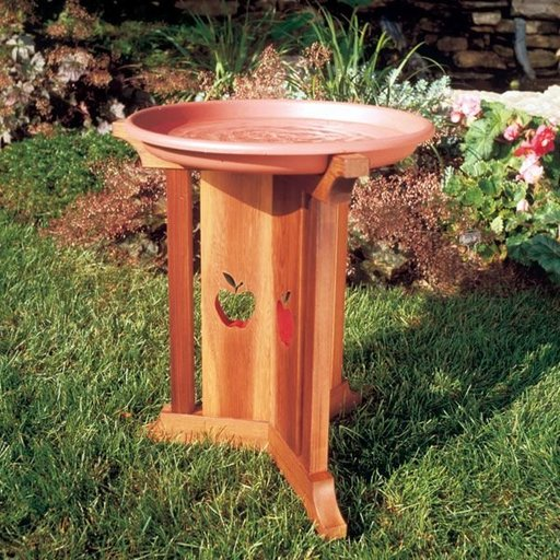 View a Larger Image of Woodworking Project Paper Plan to Build Birdbath Beauty