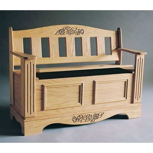 View a Larger Image of Woodworking Project Paper Plan to Build Blanket Chest/Bench Plan, Plan No. 789