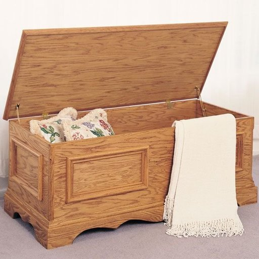 View a Larger Image of Woodworking Project Paper Plan to Build Blanket Chest