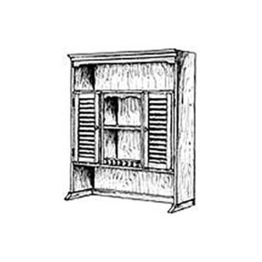 Woodworking Project Paper Plan to Build Bookshelf Hutch Plan II