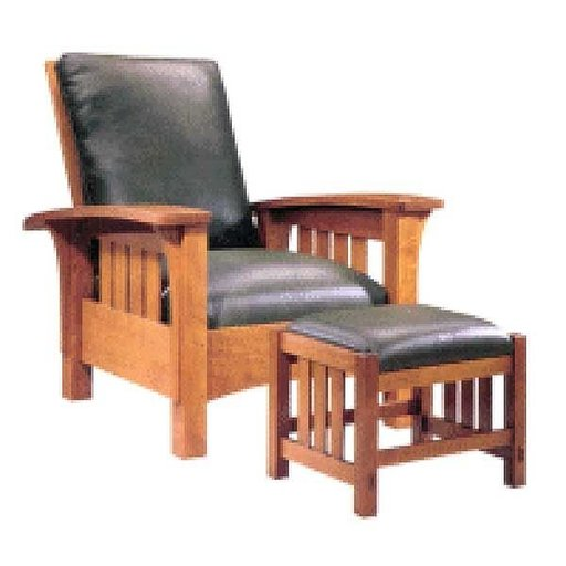 View a Larger Image of Woodworking Project Paper Plan to Build Bow Arm Morris Chair, AFD181