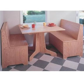 Woodworking Project Paper Plan to Build Breakfast Nook, Plan No. 925
