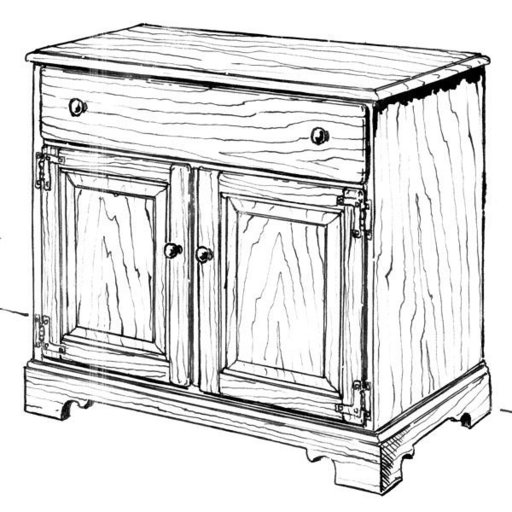 View a Larger Image of Woodworking Project Paper Plan to Build Buffet Cupboard