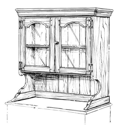 View a Larger Image of Woodworking Project Paper Plan to Build Buffet Hutch