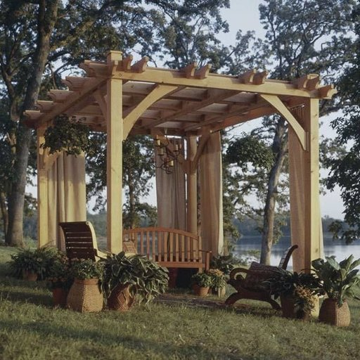 View a Larger Image of Woodworking Project Paper Plan to Build Build-to-suit Pergola