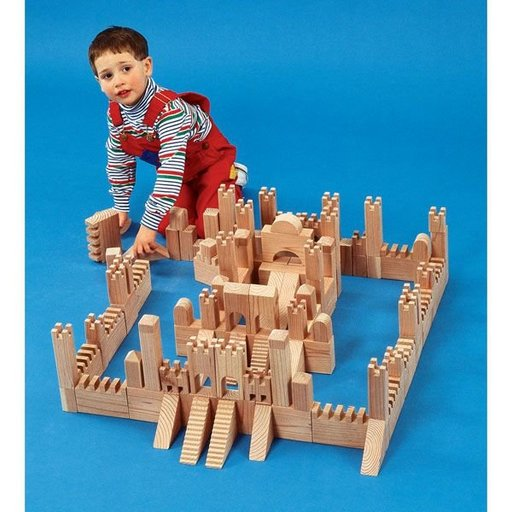 View a Larger Image of Woodworking Project Paper Plan to Build Building Block Castle