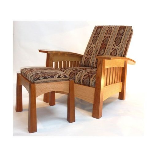View a Larger Image of Woodworking Project Paper Plan to Build California West Arm Chair, AFD421