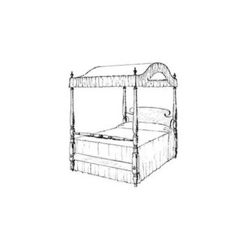 View a Larger Image of Woodworking Project Paper Plan to Build Canopy Bed