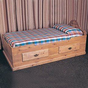 Woodworking Project Paper Plan to Build Captain's Bed, Plan No. 747