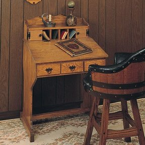 Woodworking Project Paper Plan to Build Captain's Desk, Plan No. 612