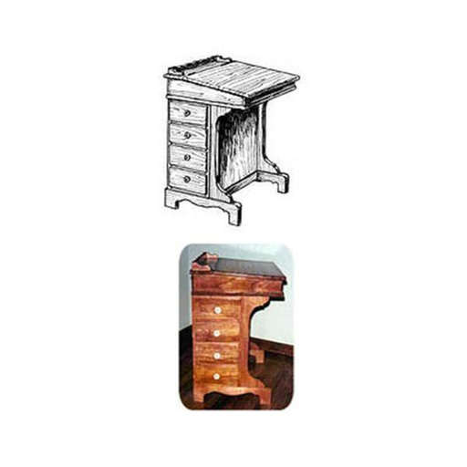View a Larger Image of Woodworking Project Paper Plan to Build Captain's Writing Desk