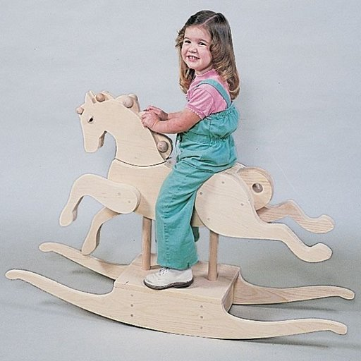View a Larger Image of Woodworking Project Paper Plan to Build Carousel Rocking Horse, Plan No. 657