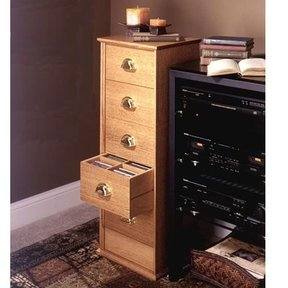 Woodworking Project Paper Plan to Build CD Storage Cabinet