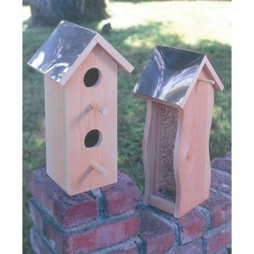 View a Larger Image of Woodworking Project Paper Plan to Build Cedar Bird House & Feeder, Plan No. 931