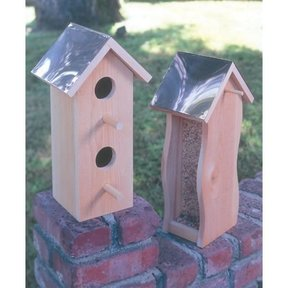 Woodworking Project Paper Plan to Build Cedar Bird House & Feeder, Plan No. 931