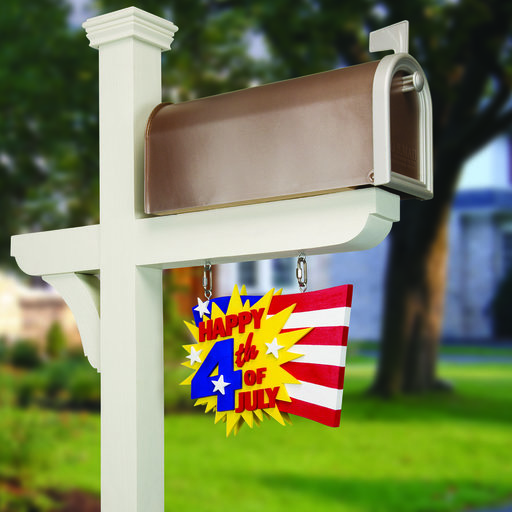View a Larger Image of Woodworking Project Paper Plan to Build Celebration Mailbox Signs