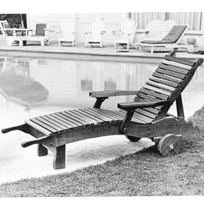 Woodworking Project Paper Plan to Build Chaise Lounge, Plan No. 81