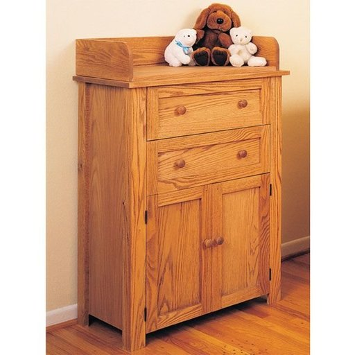 View a Larger Image of Woodworking Project Paper Plan to Build Changing Table and Dresser