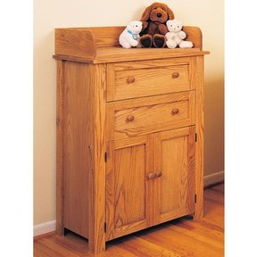 Woodworking Project Paper Plan to Build Changing Table and Dresser