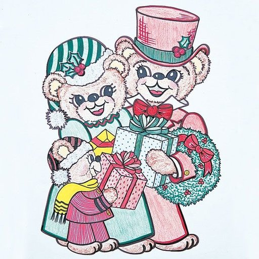 View a Larger Image of Woodworking Project Paper Plan to Build Christmas Bears, Plan No. 808