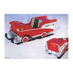 Woodworking Project Paper Plan to Build Christmas Chevrosleigh